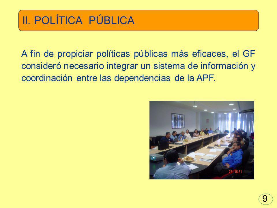 El PND 2007-2012 establece elevar la eficiencia y eficacia gubernamental mediante la sistematización y digitalización administrativa y el aprovechamiento de la tecnología informática.