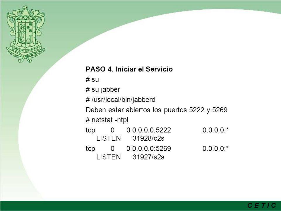 C E T I C PASO 5.