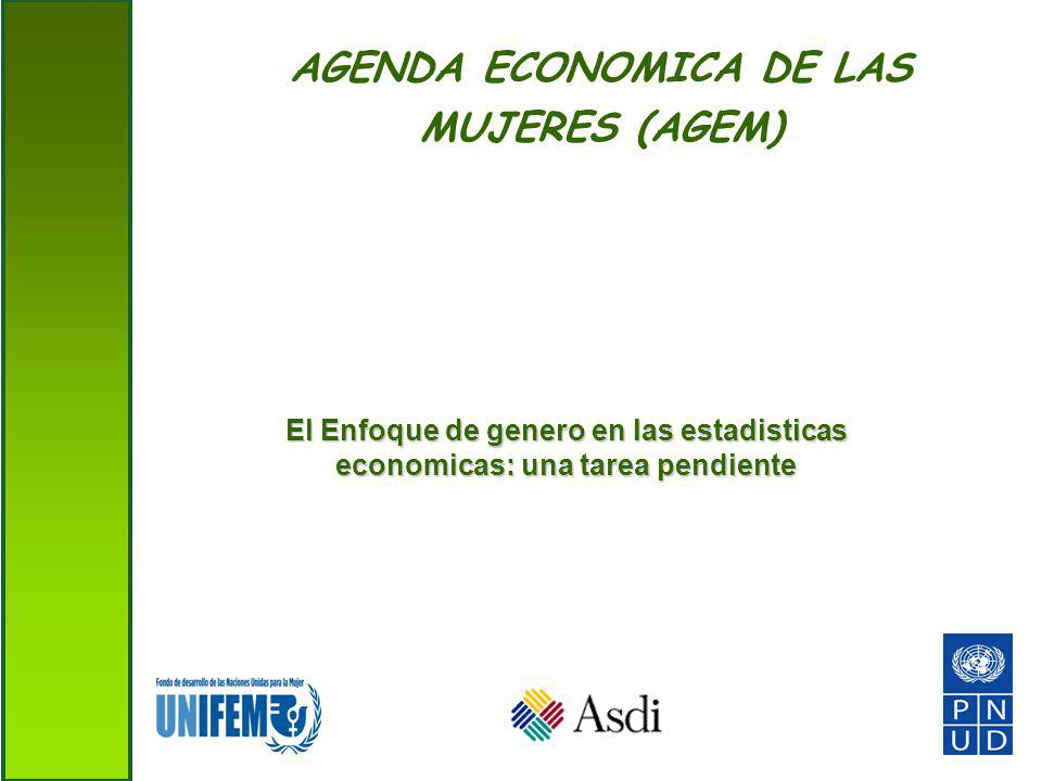 AGENDA ECONOMICA DE LAS MUJERES (AGEM) El Enfoque de genero en las estadisticas economicas: una tarea pendiente