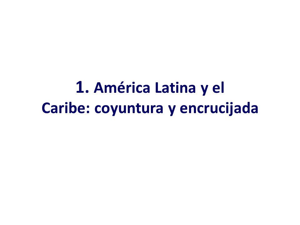 La apreciación real de las monedas nacionales ayuda a bajar inflación pero dificulta las exportaciones AMÉRICA LATINA Y EL CARIBE: TIPO DE CAMBIO REAL MULTILATERAL, 2000-2013 (En índices, base 1990-1998=100) Fuente: Comisión Económica para América Latina y el Caribe (CEPAL), sobre la base de datos del Fondo Monetario Internacional.