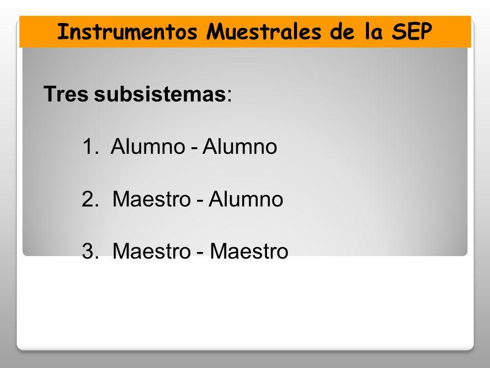 1.Alumno - Alumno 2. Maestro - Alumno 3.