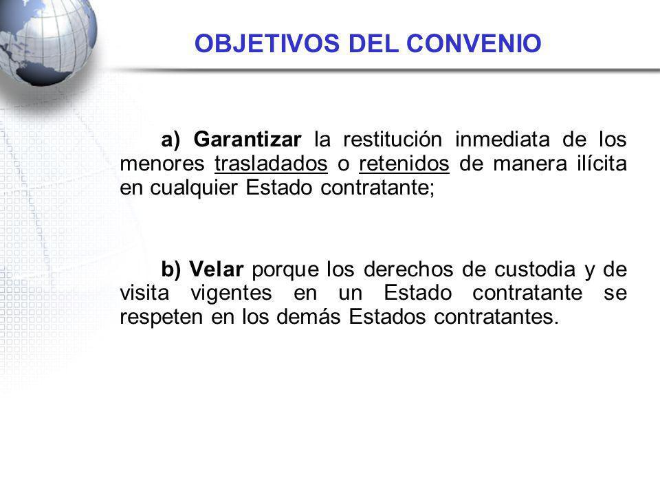 a) Adoptar medidas apropiadas para garantizar el cumplimiento de los objetivos del Convenio.