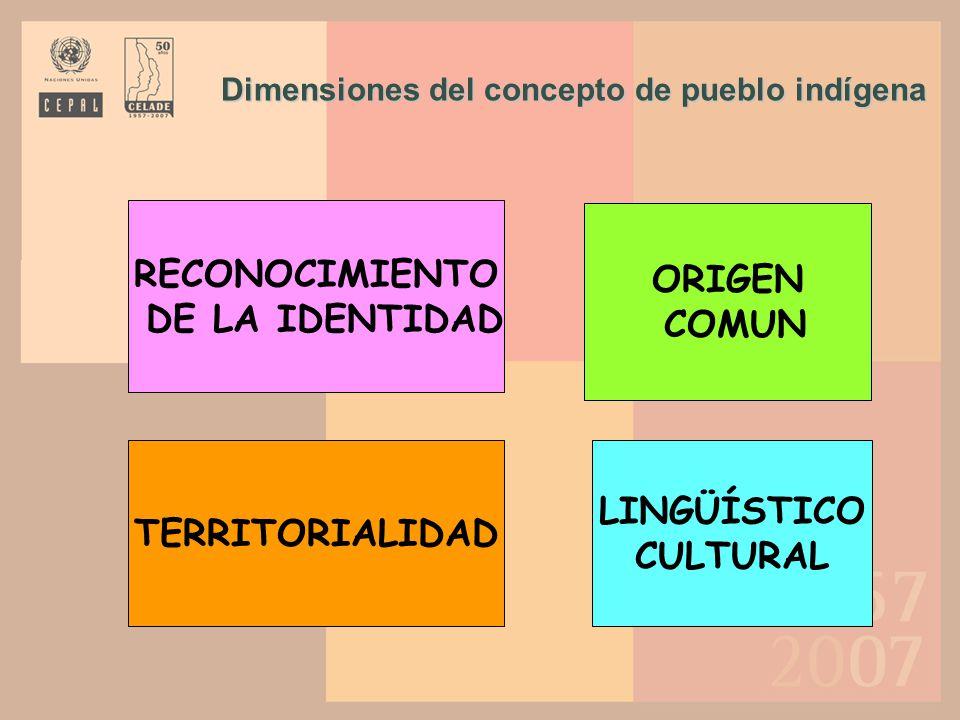 América Latina: criterios de identificación étnica utilizados en los censos de población (a) Al menos un indígena en el hogar; (b) Solo en Territorios Indígenas; (c) Solo en la muestra.