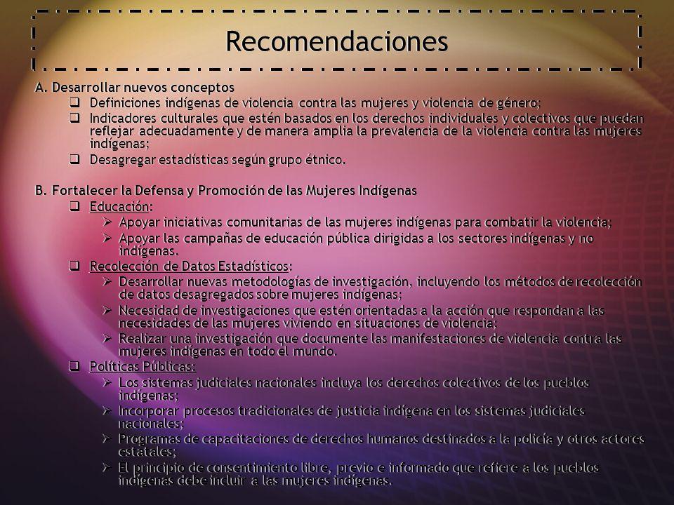 Recomendaciones A.