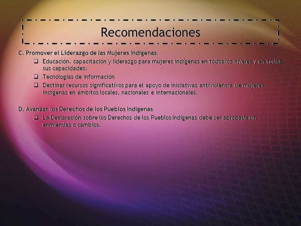 Recomendaciones C.