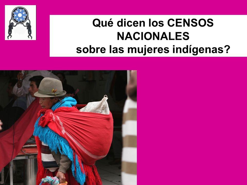 Qué dicen los CENSOS NACIONALES sobre las mujeres indígenas?