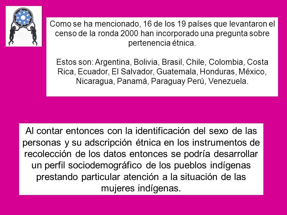 Frente a los esfuerzos generales por incluir la perspectiva de género Promover la participación de las mujeres indígenas como socias estratégicas en los debates y procesos que se están llevando a cabo en la región para incluir la perspectiva de género en las estadísticas y además monitorear su evolución.