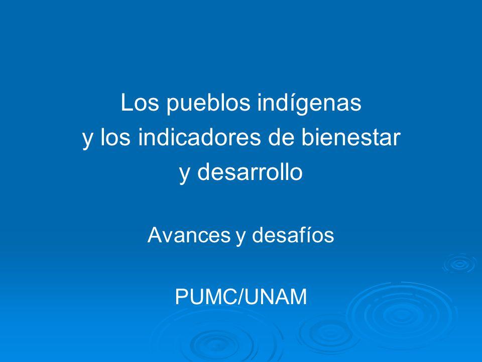 Los pueblos indígenas y los indicadores de bienestar y desarrollo Avances y desafíos PUMC/UNAM