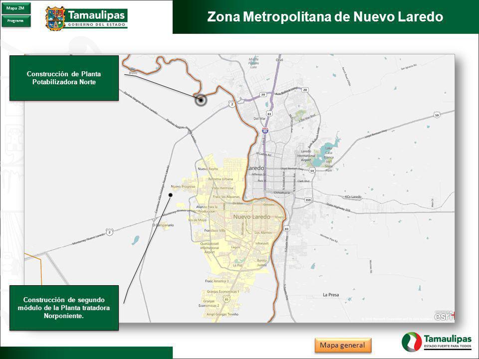 Zona Metropolitana de Nuevo Laredo Construcción de Planta Potabilizadora Norte Construcción de Planta Potabilizadora Norte Construcción de segundo módulo de la Planta tratadora Norponiente.