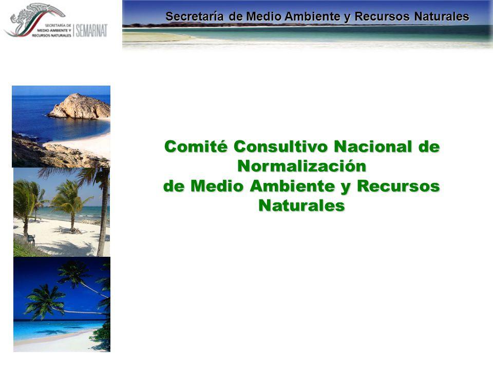 Comité Consultivo Nacional de Normalización de Medio Ambiente y Recursos Naturales Secretaría de Medio Ambiente y Recursos Naturales
