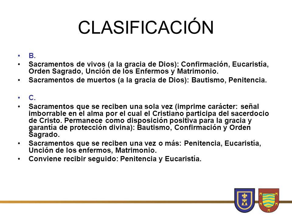 CLASIFICACIÓN B.
