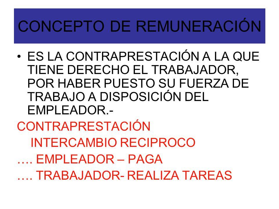 PRINCIPIOS DE LA REMUNERACION INTANGIBILIDAD IRRENUNCIABILIDAD INCESIBILIDAD INEMBARGABILIDAD ( S.M.V.M) PROPORCIONALIDAD