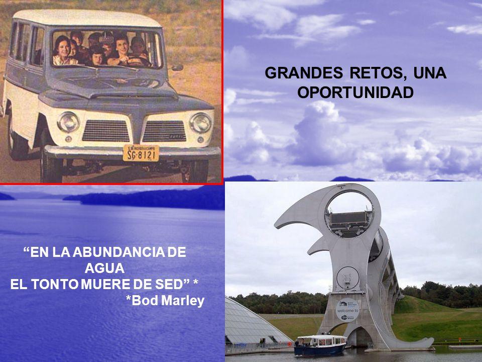 GRANDES RETOS, UNA OPORTUNIDAD EN LA ABUNDANCIA DE AGUA EL TONTO MUERE DE SED * *Bod Marley