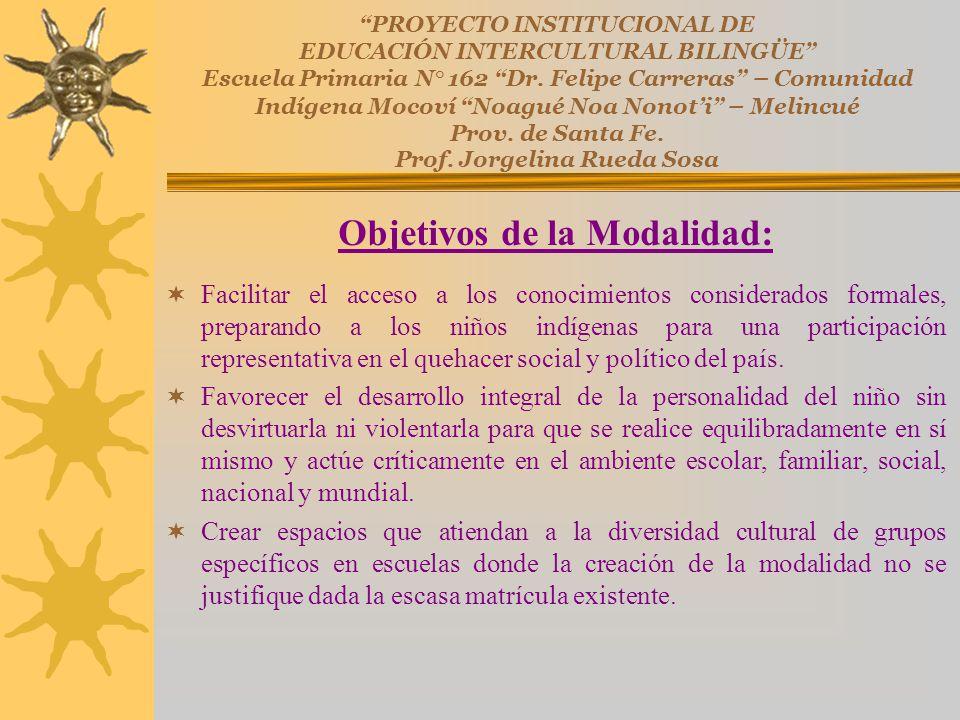 PROYECTO INSTITUCIONAL DE EDUCACIÓN INTERCULTURAL BILINGÜE Escuela Primaria N° 162 Dr. Felipe Carreras – Comunidad Indígena Mocoví Noagué Noa Nonoti –