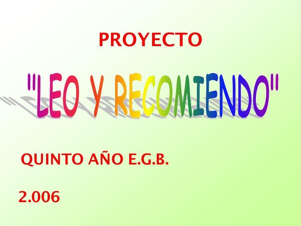 2.006 QUINTO AÑO E.G.B. PROYECTO