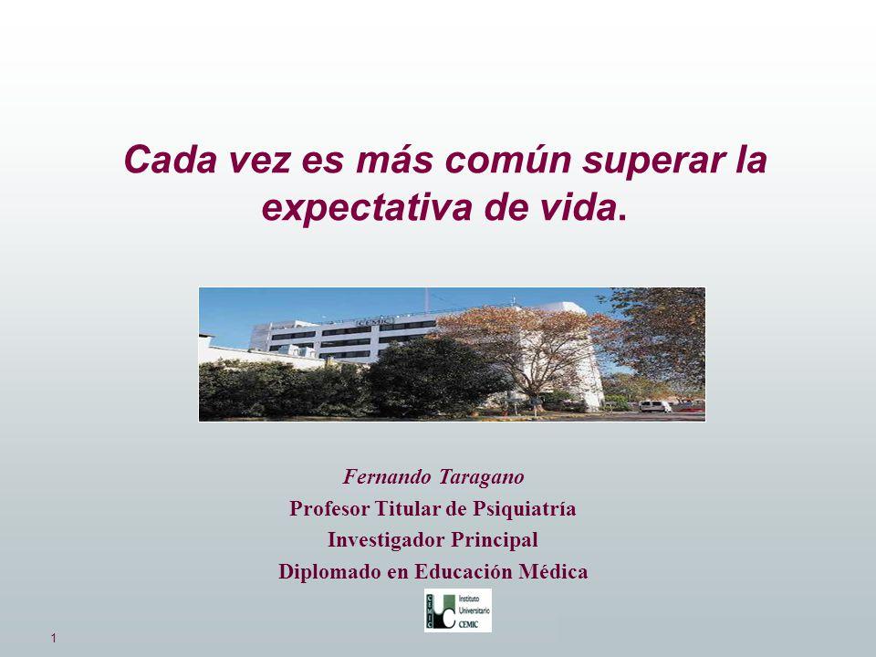 1 Dres.Taragano, Allegri, Bagnati., Kremer. Fernando Taragano Profesor Titular de Psiquiatría Investigador Principal Diplomado en Educación Médica Cad