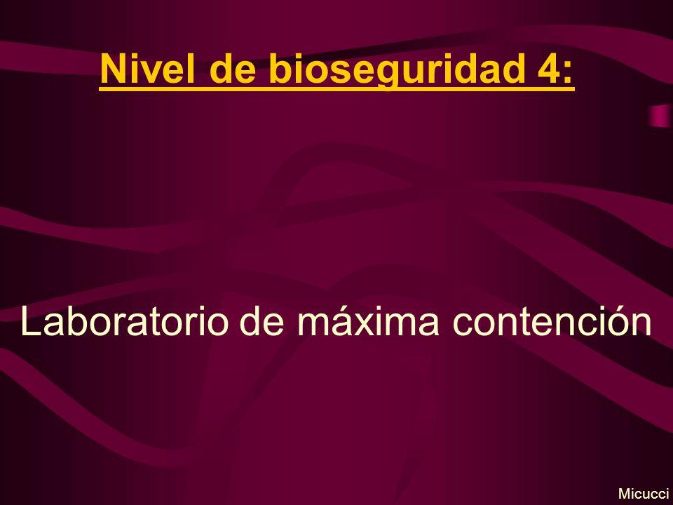 Nivel de bioseguridad 4: Laboratorio de máxima contención Micucci