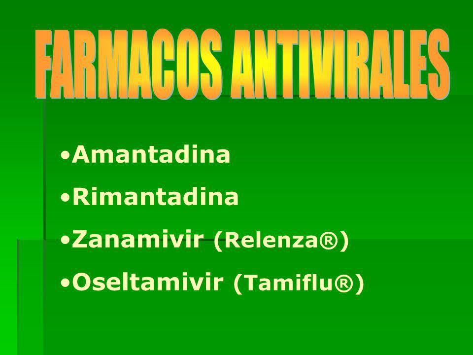 Amantadina Rimantadina Zanamivir (Relenza®) Oseltamivir (Tamiflu®)