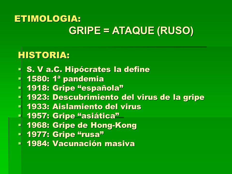 COMPLICACIONES DE LA GRIPE PULMONARES: Neumonía viral primaria.