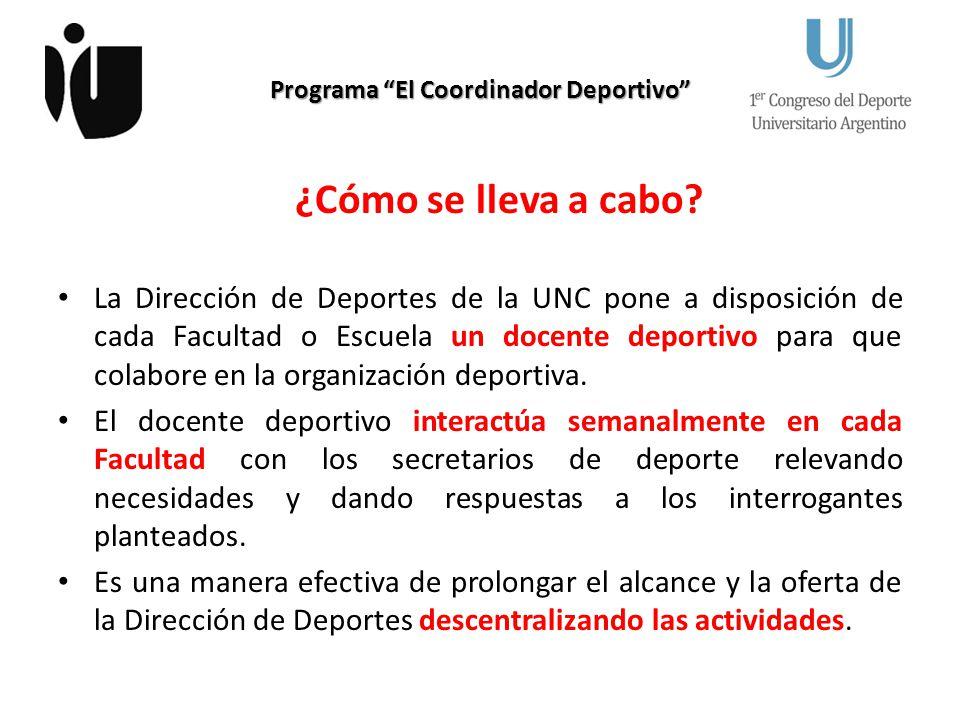 Programa El Coordinador Deportivo ¿De dónde surgió la idea.