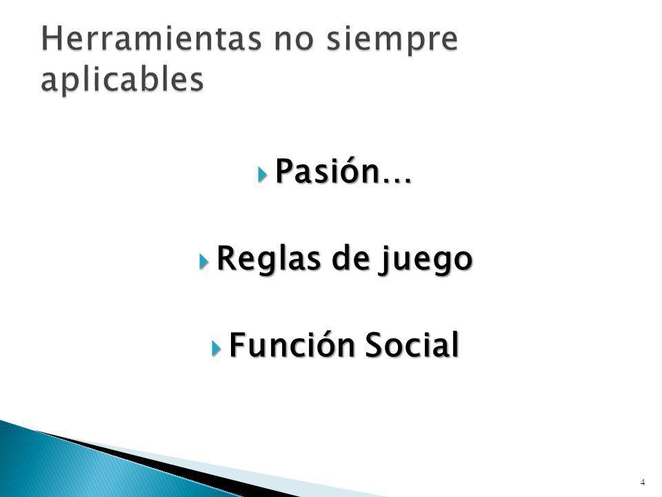 Pasión… Pasión… Reglas de juego Reglas de juego Función Social Función Social 4