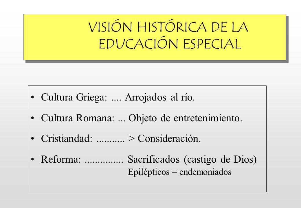 VISIÓN HISTÓRICA DE LA EDUCACIÓN ESPECIAL Cultura Griega:....