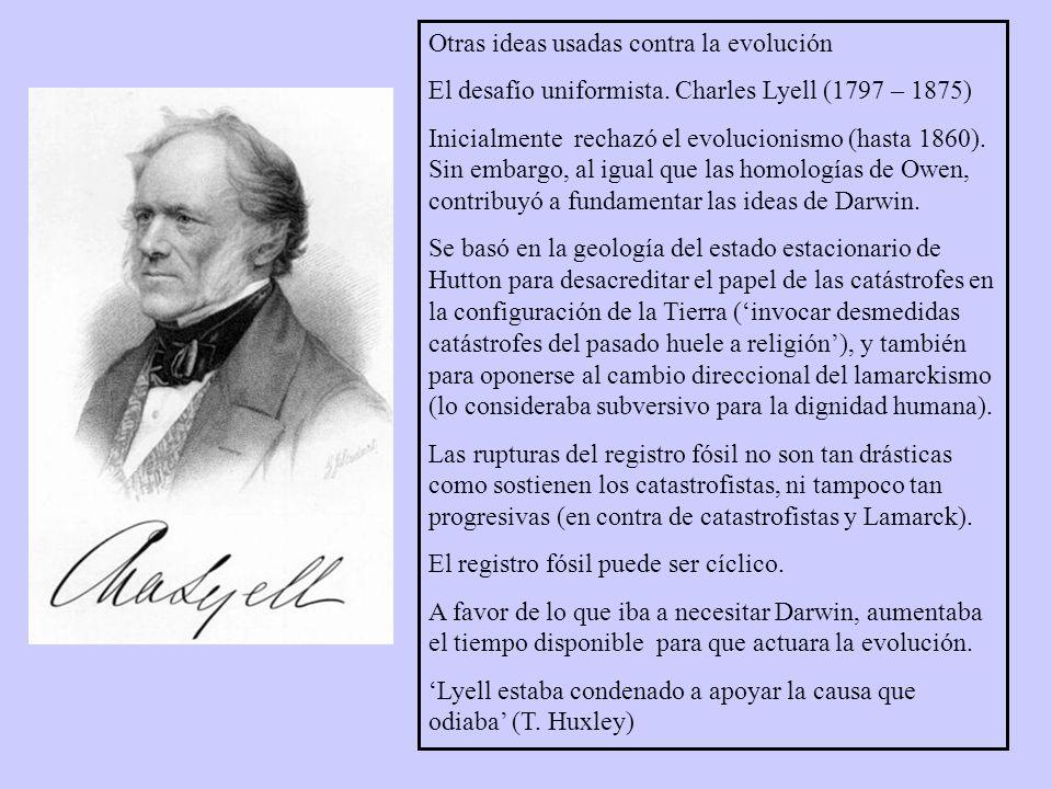 Otras ideas usadas contra la evolución El desafío uniformista.