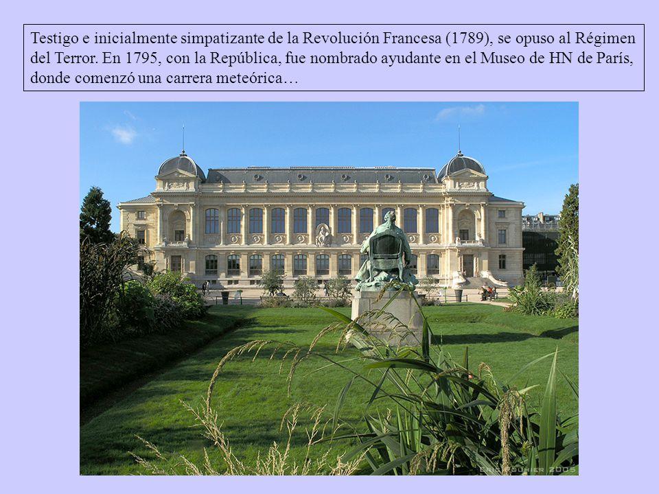 Testigo e inicialmente simpatizante de la Revolución Francesa (1789), se opuso al Régimen del Terror.