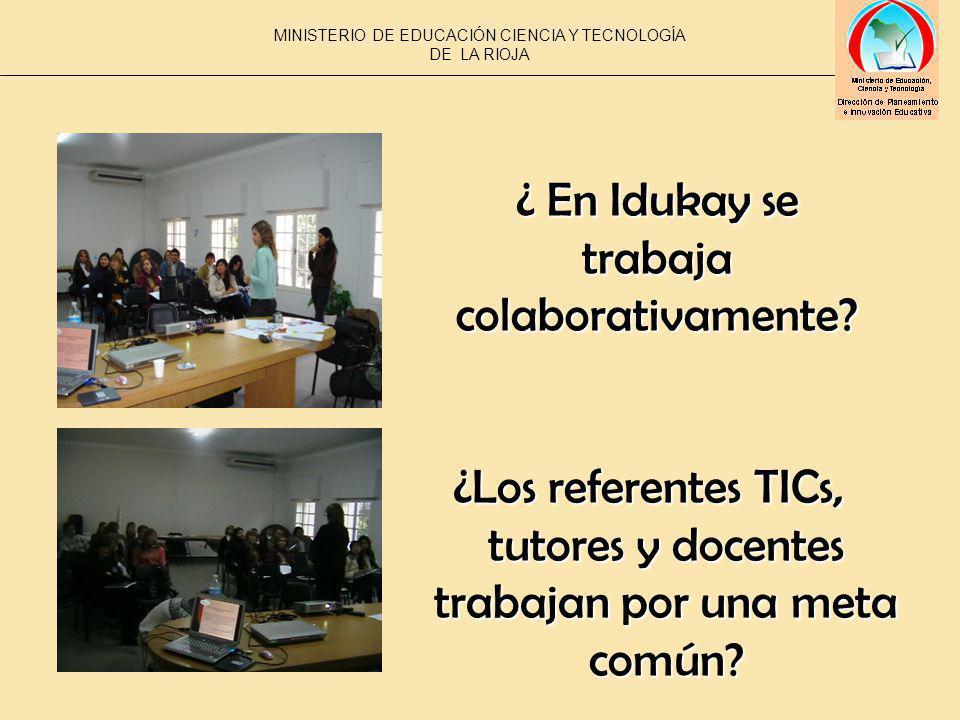 ¿Los referentes TICs, tutores y docentes trabajan por una meta común.