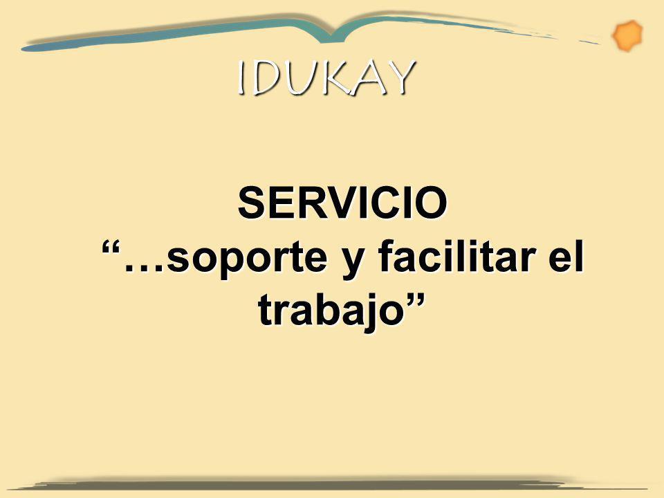 IDUKAY SERVICIO …soporte y facilitar el trabajo