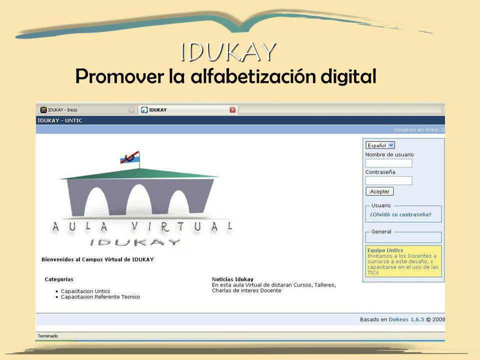 IDUKAY Promover la alfabetización digital