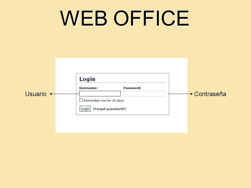 WEB OFFICE UsuarioContraseña