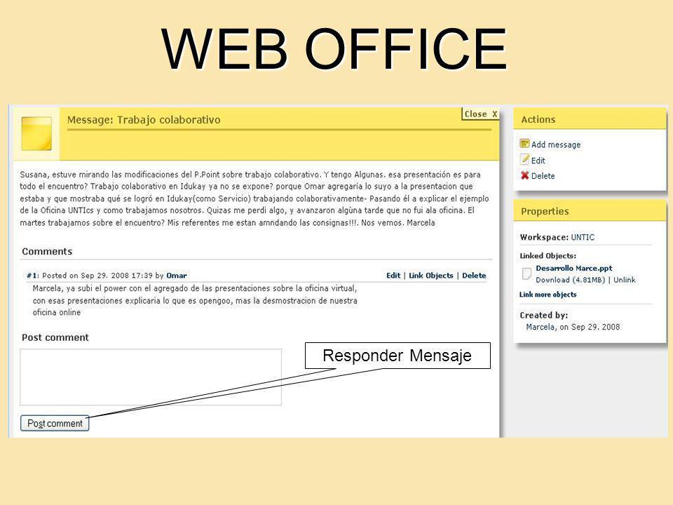 WEB OFFICE Responder Mensaje