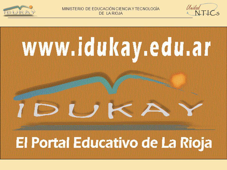 MINISTERIO DE EDUCACIÓN CIENCIA Y TECNOLOGÌA DE LA RIOJA