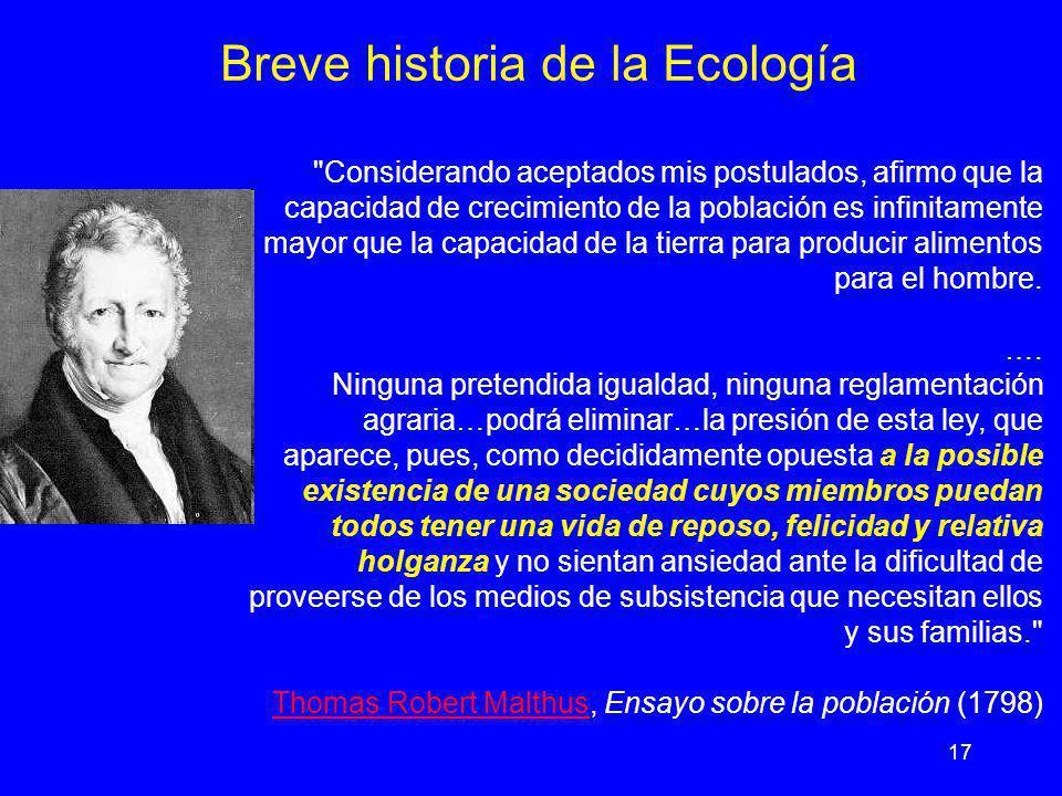 17 Breve historia de la Ecología