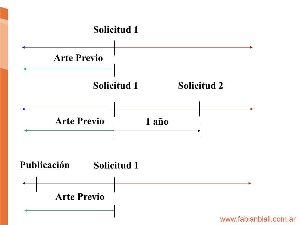 Solicitud 1 Arte Previo Solicitud 1Solicitud 2 1 año Arte Previo Solicitud 1 Publicación www.fabianbiali.com.ar