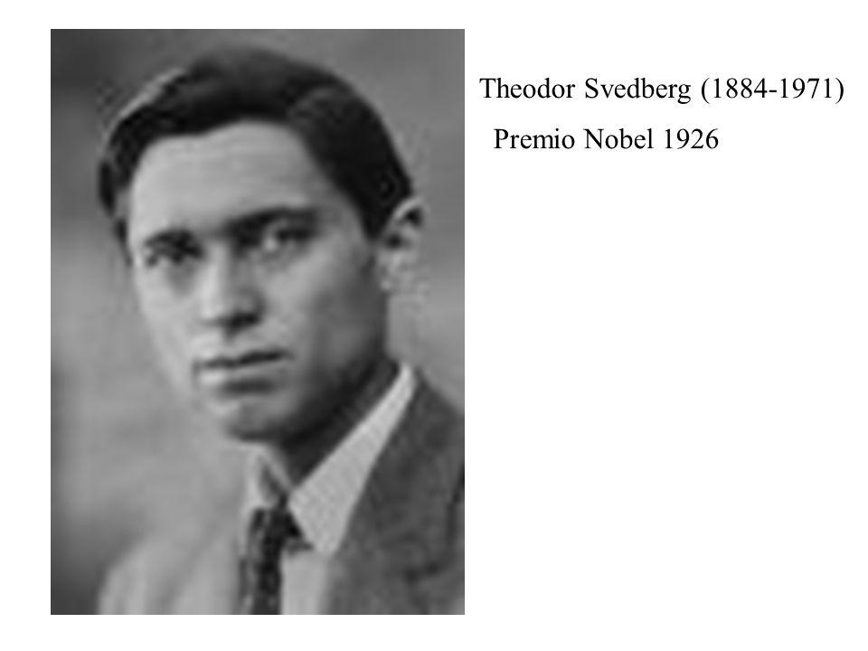 Theodor Svedberg (1884-1971) Premio Nobel 1926