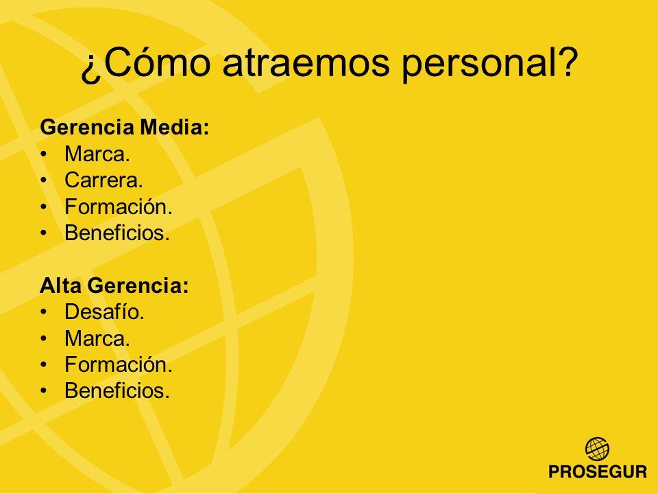 ¿Cómo atraemos personal.Gerencia Media: Marca. Carrera.
