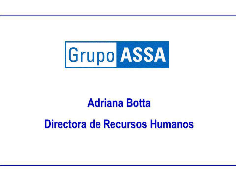 www.grupoassa.com 2005 Propiedad Intelectual de Grupo ASSAClasificación:Confidencial Adriana Botta Directora de Recursos Humanos