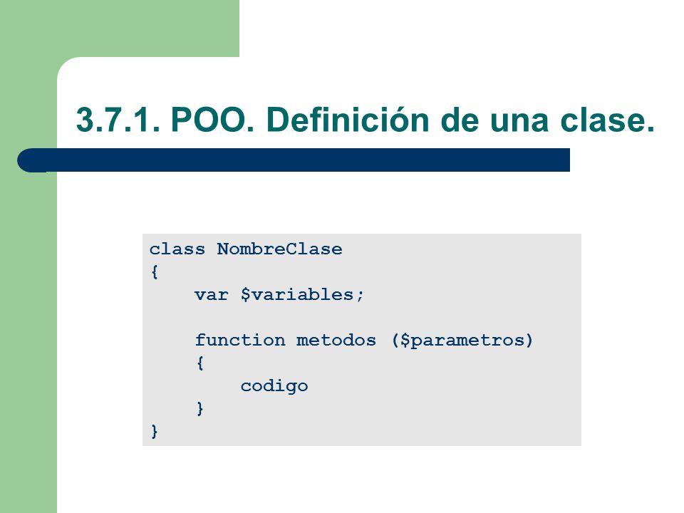 3.7.1.POO. Definición de una clase.