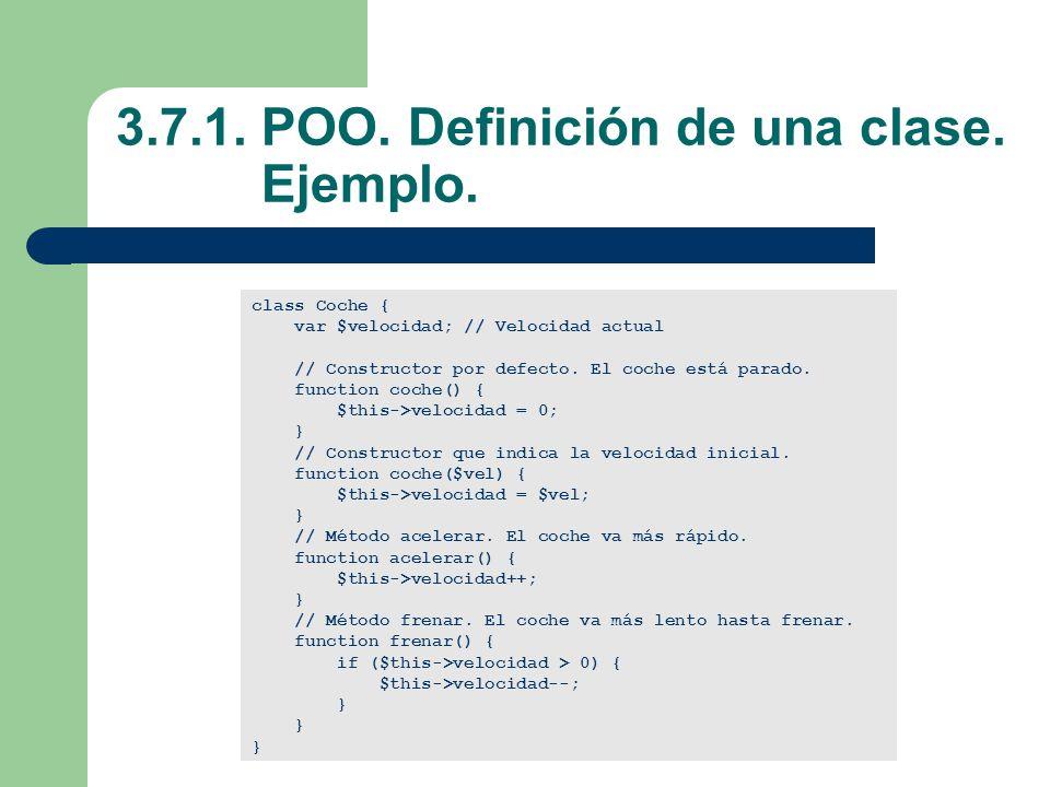 3.7.1.POO. Definición de una clase. Ejemplo.