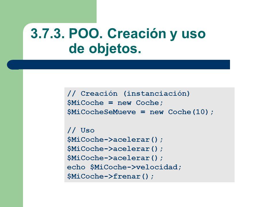 3.7.3.POO. Creación y uso de objetos.