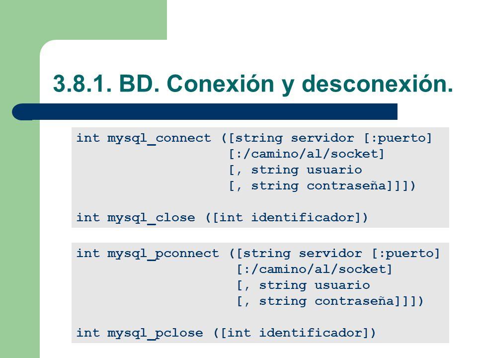 3.8.1.BD. Conexión y desconexión.
