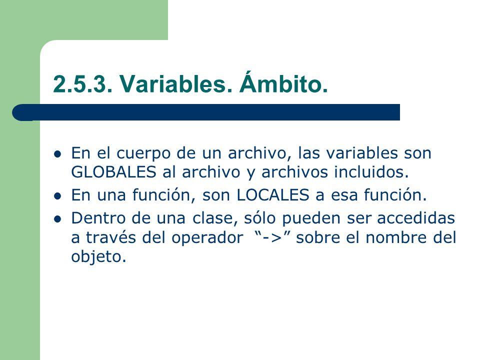 2.5.3.Variables. Ámbito.