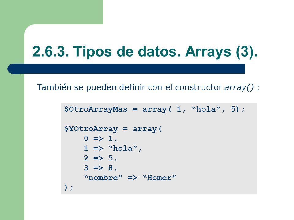2.6.3.Tipos de datos. Arrays (3).