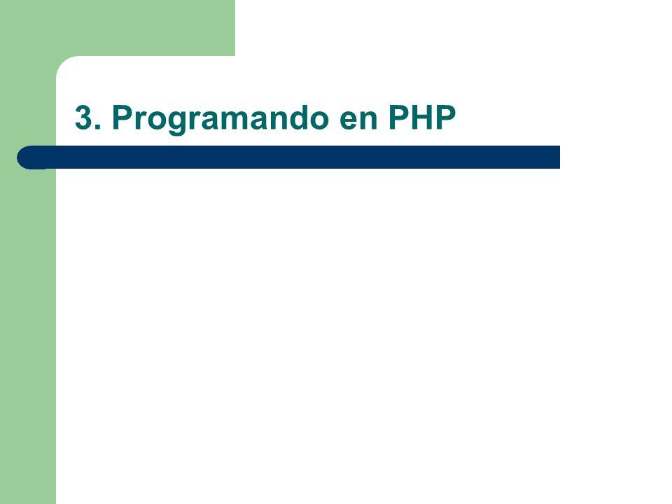 3. Programando en PHP
