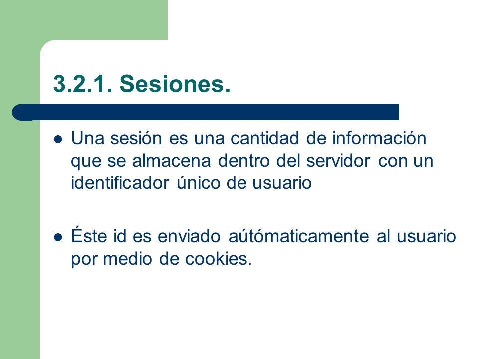 3.2.1.Sesiones.
