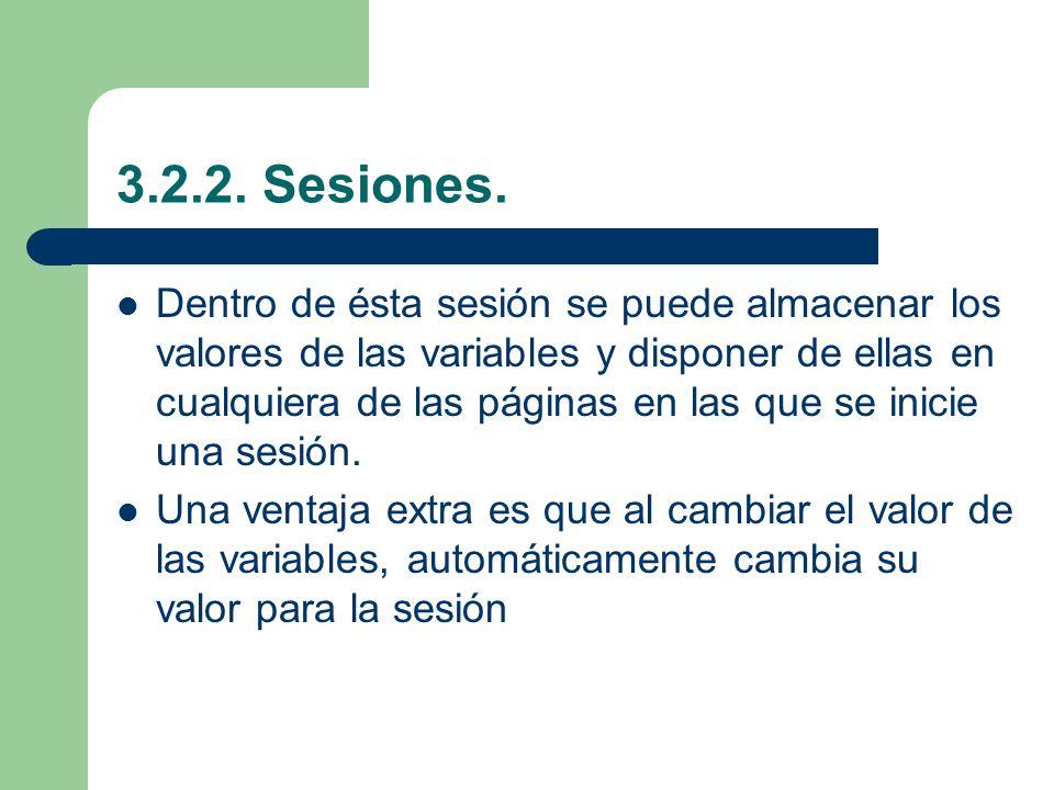 3.2.2.Sesiones.