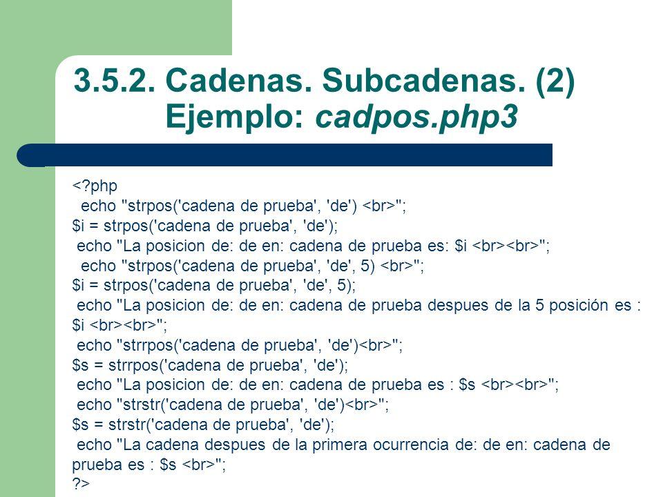 3.5.2.Cadenas. Subcadenas.