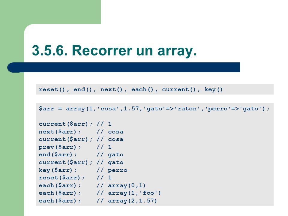 3.5.6.Recorrer un array.